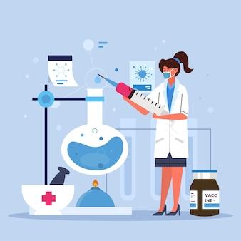 Ilustracja rozwoju szczepionki koronawirusa