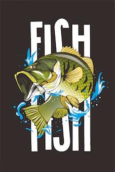 Ilustracja ryby wędkarz
