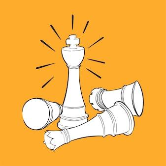 Ilustracja rysunek ręka koncepcji przywództwa