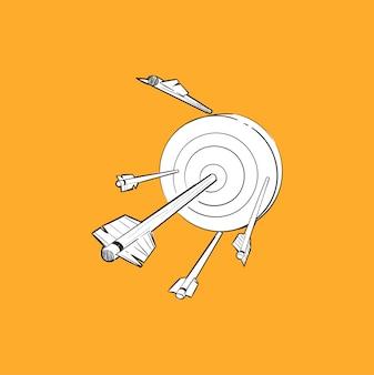 Ilustracja rysunek ręka udanej koncepcji