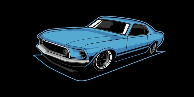 Ilustracja samochód mięśni