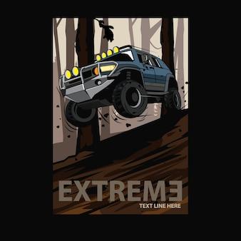 Ilustracja samochód sport ekstremalny