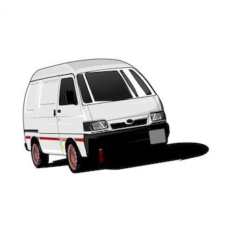 Ilustracja samochód van