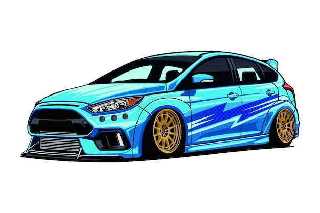 Ilustracja samochodu drift