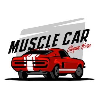 Ilustracja samochodu mięśni