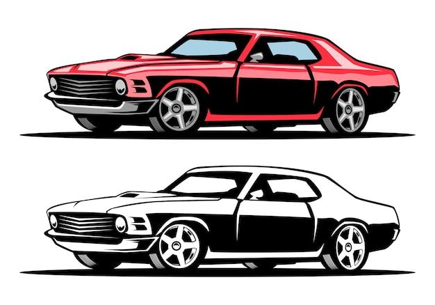 Ilustracja samochodu mięśniowego