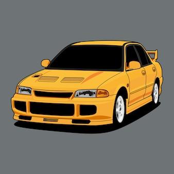 Ilustracja samochodu na projekt koncepcyjny