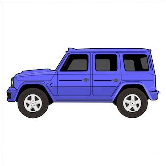 Ilustracja samochodu przygodowego