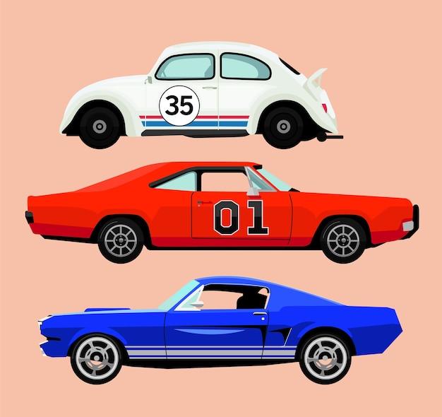 Ilustracja samochodu retro