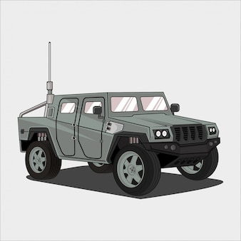 Ilustracja samochodu samochód armii