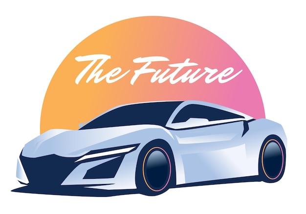 Ilustracja samochodu sportowego futurystycznego samochodu