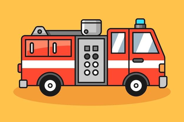 Ilustracja samochodu strażaka