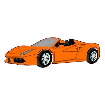 Ilustracja samochodu super car