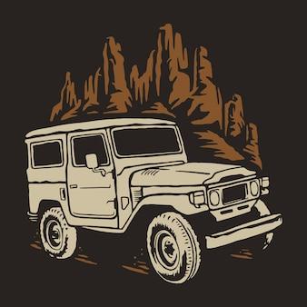 Ilustracja samochodu terenowego