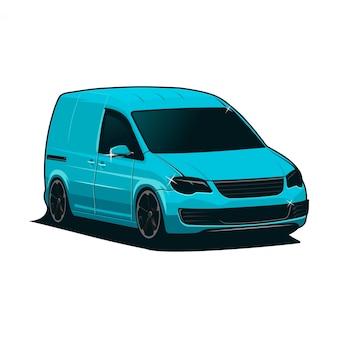 Ilustracja samochodu van