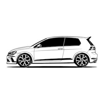 Ilustracja samochodu widok z boku