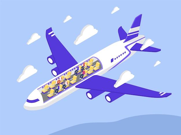 Ilustracja samolot pasażerski
