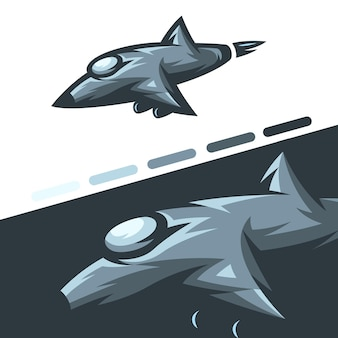 Ilustracja samolotu myśliwskiego