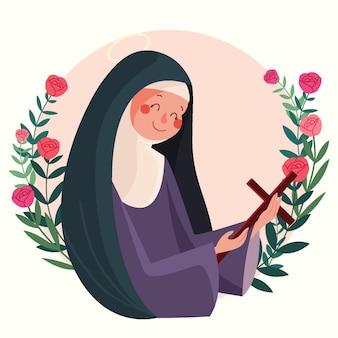 Ilustracja santa rosa de lima