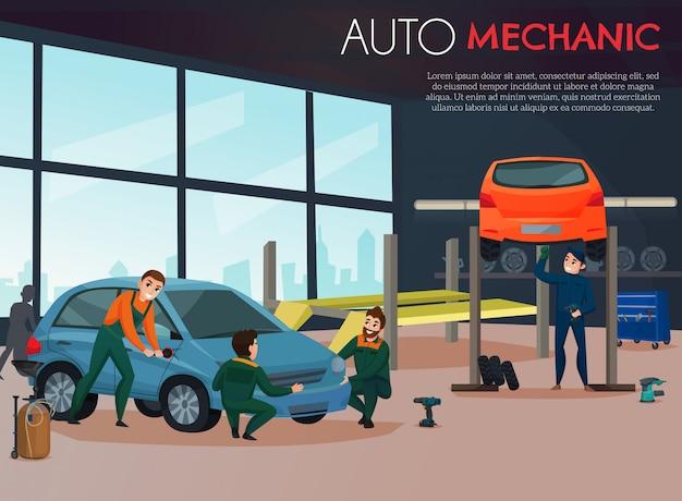 Ilustracja serwisowa samochodu