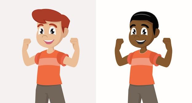 Ilustracja silnego i zdrowego ciała