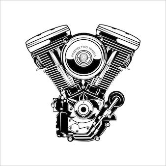 Ilustracja silnika motocykla