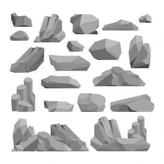 Ilustracja skały i kamienie