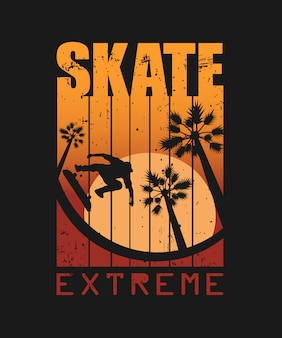 Ilustracja skate sportu ekstremalnego