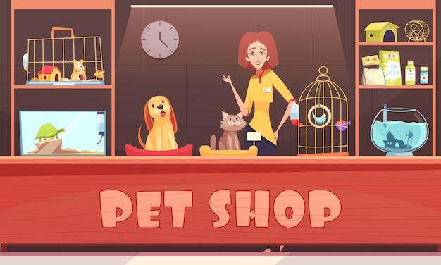 Ilustracja sklepu zoologicznego
