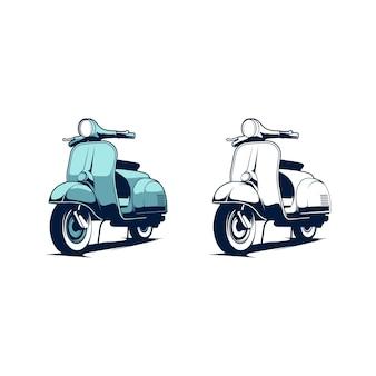 Ilustracja skutera