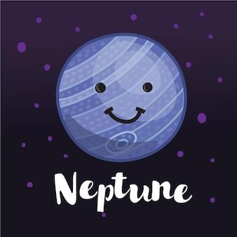 Ilustracja śliczne planety neptuna w przestrzeni