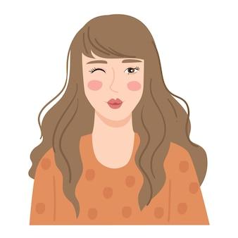 Ilustracja ślicznej kobiety
