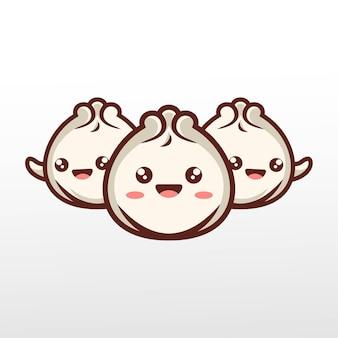 Ilustracja słodkie bułeczki mięsne