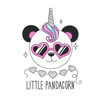 Ilustracja słodkie panda