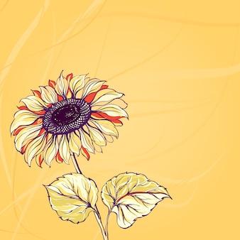 Ilustracja słonecznika