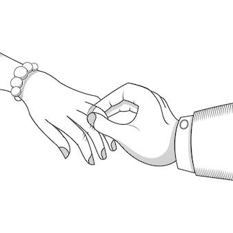 Ilustracja ślubna.