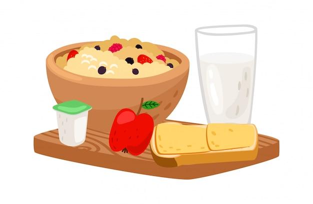 Ilustracja smaczne śniadanie