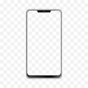 Ilustracja smartfona. rama telefonu komórkowego z pustymi szablonami na białym tle.