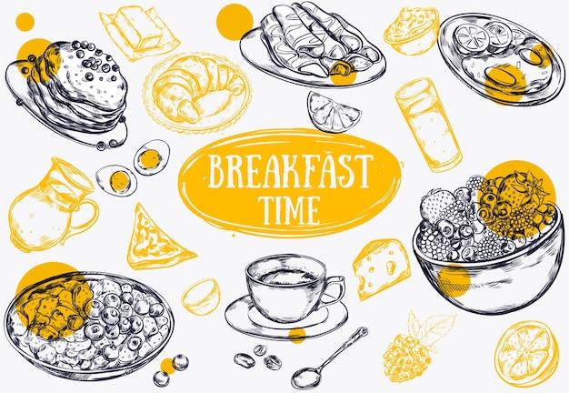 Ilustracja śniadanie żywności
