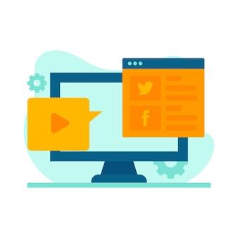 Ilustracja social media marketing
