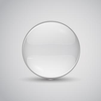 Ilustracja soczewki szklanej. przezroczyste szkło płaskie.