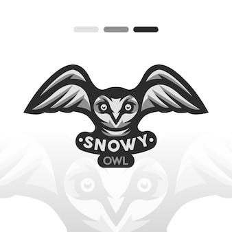 Ilustracja sowa śnieżna
