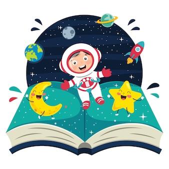 Ilustracja spaceman