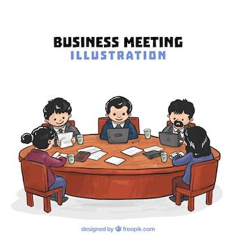 Ilustracja spotkania biznesowego
