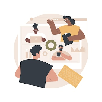 Ilustracja spotkania
