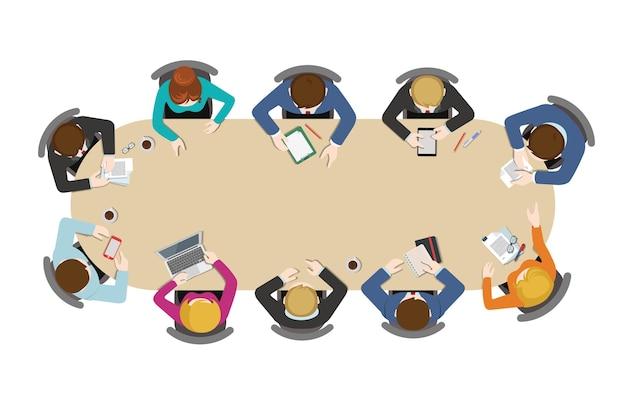 Ilustracja spotkanie biznesowe