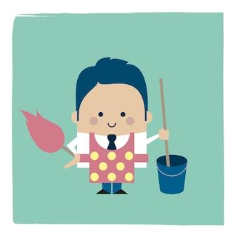 Ilustracja sprzątaczki