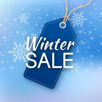 Ilustracja sprzedaż zima