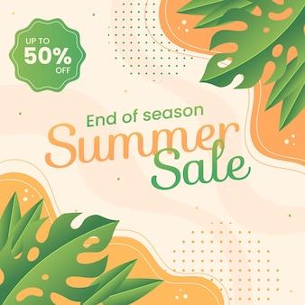 Ilustracja sprzedaży letniej końca sezonu