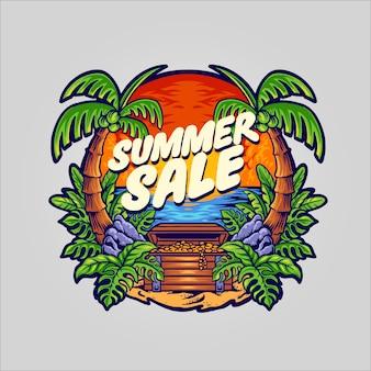 Ilustracja sprzedaży letniej